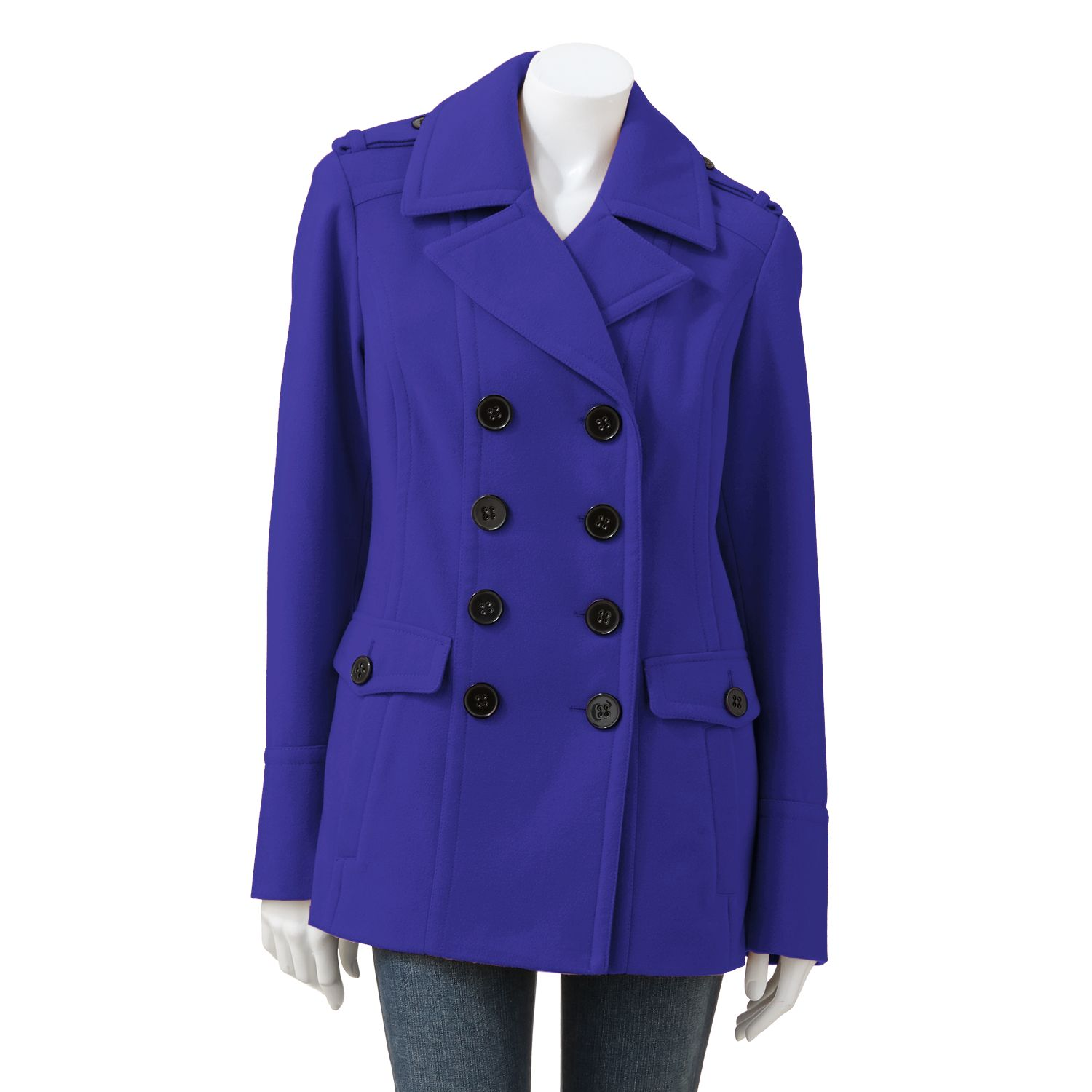 Apt. 9 Solid Peacoat - Women's