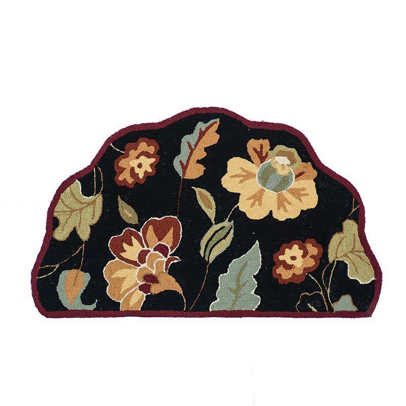 Loloi Summerton Floral Rug - 2'3'' x 3'9'' Hearth (Black)