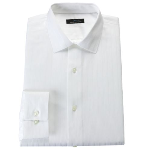 Marc Anthony Slim-Fit Tonal-Striped Easy-Care Spread-Collar Dress Shirt