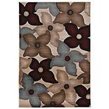 Linon Milan Graphic Floral Rug