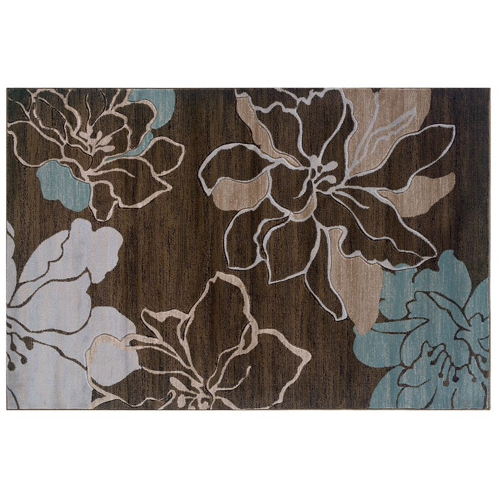 Linon Milan Floral Silhouettes Rug