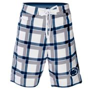 Penn State Nittany Lions Plaid Swim Trunks - Men