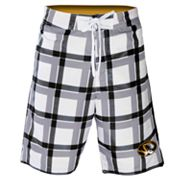 Missouri Tigers Plaid Swim Trunks - Men