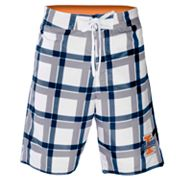 Illinois Fighting Illini Plaid Swim Trunks - Men