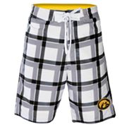 Iowa Hawkeyes Plaid Swim Trunks - Men