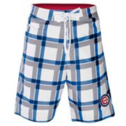 Chicago Cubs Plaid Swim Trunks - Men