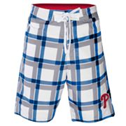 Philadelphia Phillies Plaid Swim Trunks - Men