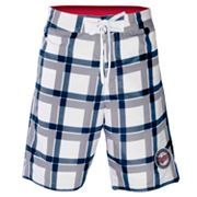 Minnesota Twins Plaid Swim Trunks - Men
