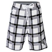 Chicago White Sox Plaid Swim Trunks - Men