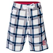 St. Louis Cardinals Plaid Swim Trunks - Men