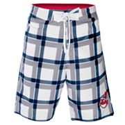 Cleveland ndians Plaid Swim Trunks - Men