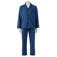 Men's Hanes Classics Solid Woven Pajama Set