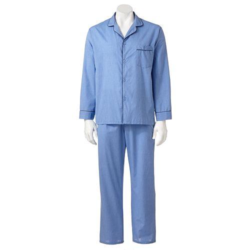 Men's Hanes Classics Solid Woven Pajama Set