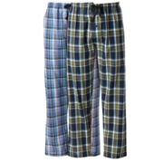 Hanes 2-pk. Plaid Woven Lounge Pants