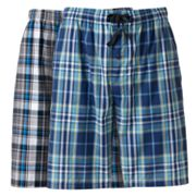 Hanes 2-pk. Plaid Woven Lounge Shorts
