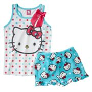 Hello Kitty Polka-Dot Pajama Set - Girls