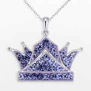 Silver Plate Crystal Crown Pendant