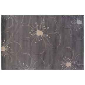 Linon Milan Gray Floral Rug - 1'10'' x 2'10''