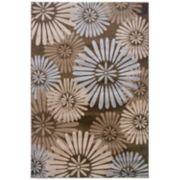Linon Milan Floral Rug - 1'10'' x 2'10''