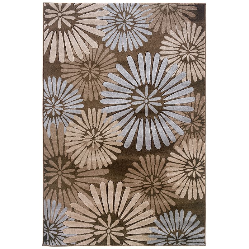 Linon Milan Floral Rug, Brown, 8X10 Ft LinonMilan rugs are the perfect finishing touch for your living or dining area.Features 1'10 x 2'10 Power loomed Action backing Construction & Care Polypropylene Professional clean Manufacturer's 6-month limited warrantyFor warranty information please click here Imported Attention: All rug sizes are approximate and should measure within 2-6 inches of stated size. Pattern may also vary slightly.  Size: 8X10 Ft. Color: Brown. Gender: unisex. Age Group: adult. Pattern: Floral. Material: Synthetic.