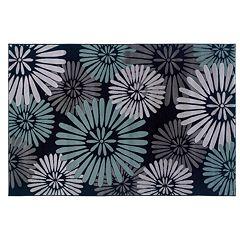 Linon Milan Floral Rug - 5' x 7'7''