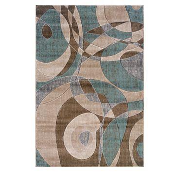 Linon Milan Abstract Rug - 5' x 7'7''