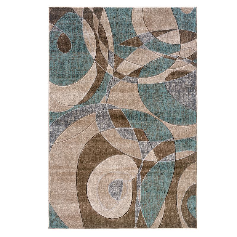 Linon Milan Abstract Rug - 5' x 7'7