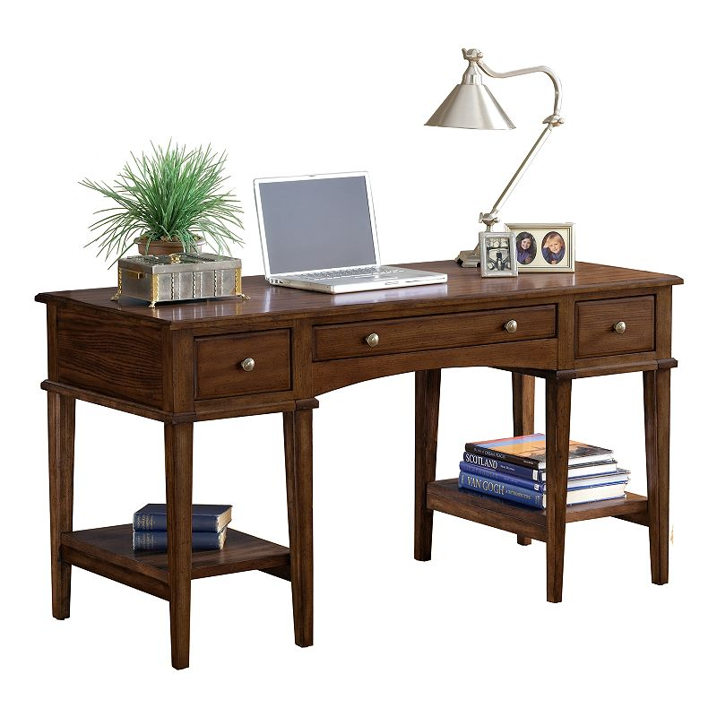 Hillsdale Furniture Gresham Desk, Brown Refine your decor with this classic Hillsdale Gresham desk. : Ample shelves and hidden drawers create storage. : 31H x 56W x 24D Wood Assembly required Model Numbers: Cherry: 4379-861S Oak: 4337-861S Size: Furniture. Color: Brown.