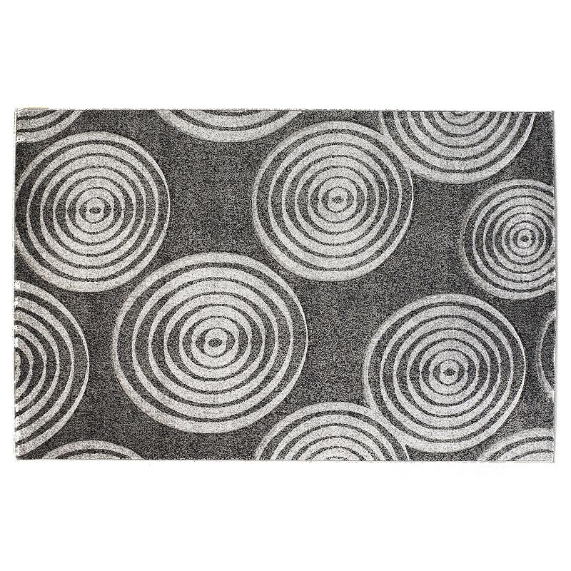 Linon Milan Circle Rug, Black, 2X3 Ft Decorate any area with this Linon rug.Features 1'10 x 2'10 Power loomed Circlepattern Construction & Care Polypropylene Action backing Professional clean Imported Manufacturer's 6-month limited warrantyFor warranty information please click here Attention: All rug sizes are approximate and should measure within 2-6 inches of stated size. Pattern may also vary slightly. This rug does not have slip-resistant backing. Rug pad recommended to prevent slipping on smooth surfaces.  Size: 2X3 Ft. Color: Black. Gender: unisex. Age Group: adult. Material: Synthetic.