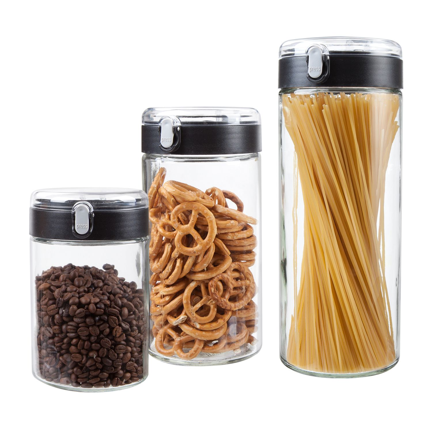 Locking Kitchen Canister Set