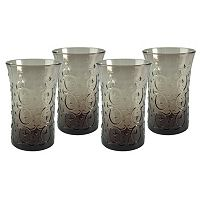 Artland Echo Smoke 4-pc. Highball Glass Set