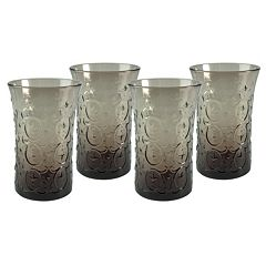 Artland Echo Smoke 4 pc Highball Glass Set