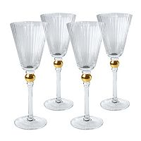 Artland Jewel 4 pc Wine Glass Set