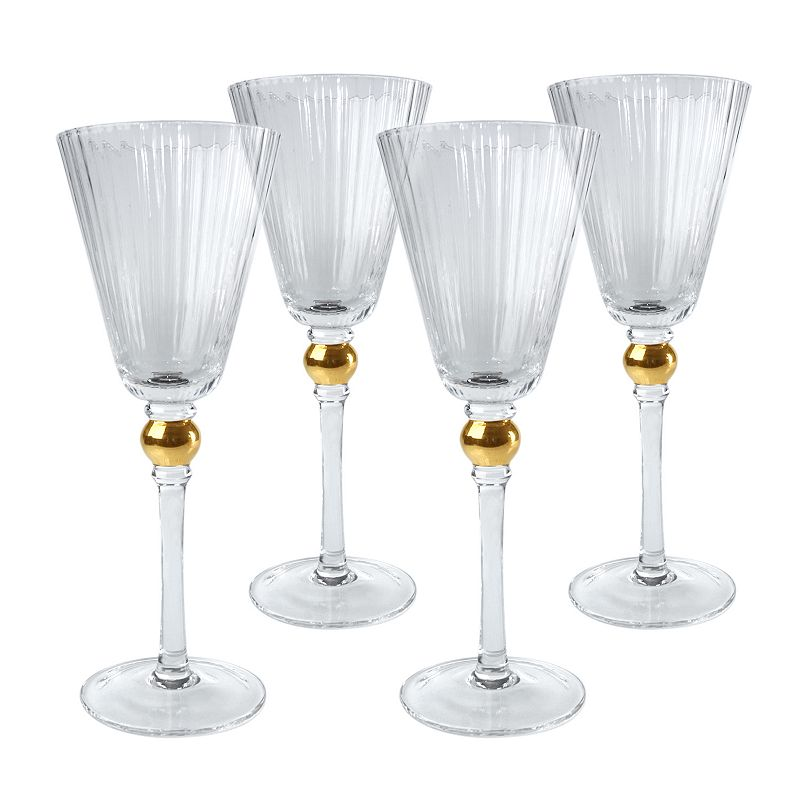 Artland Jewel 4-pc. Wine Glass Set, Yellow