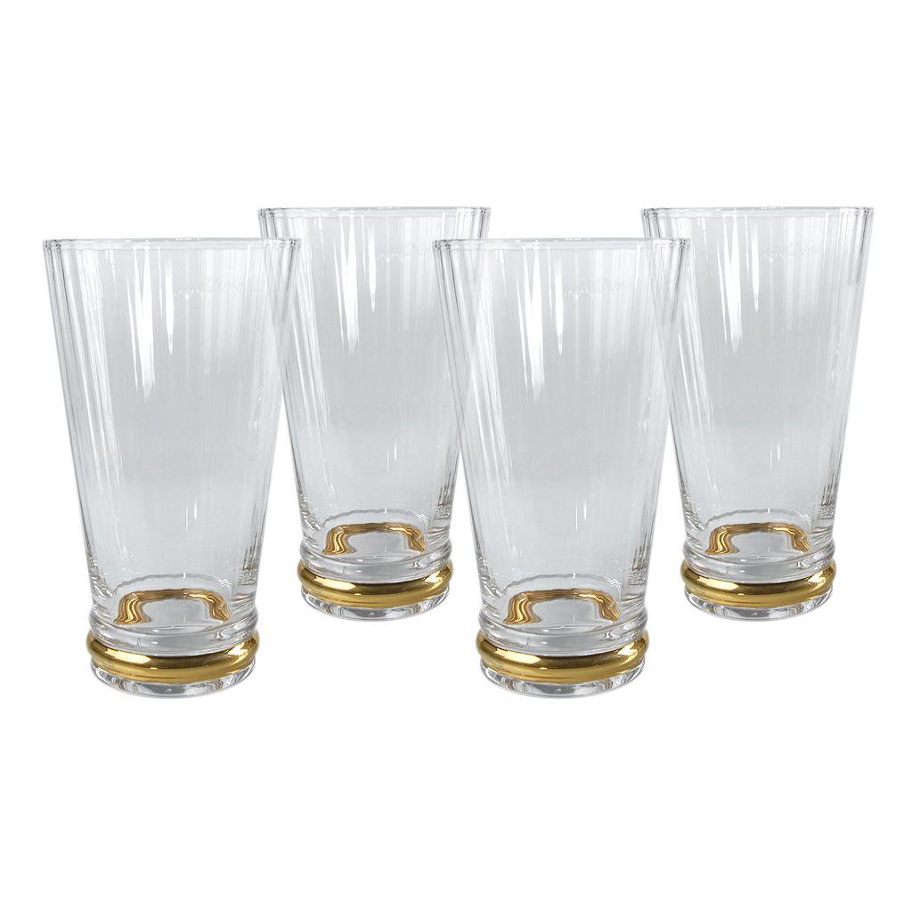 Artland Jewel 4-pc. Highball Glass Set