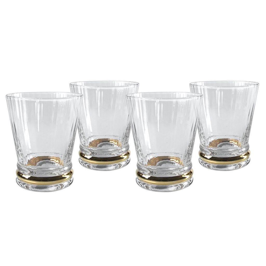 Artland Jewel 4-pc. Double Old-Fashioned Glass Set