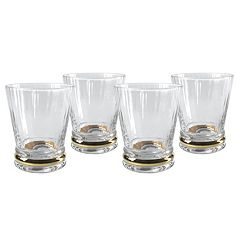 Artland Jewel 4 pc Double Old-Fashioned Glass Set