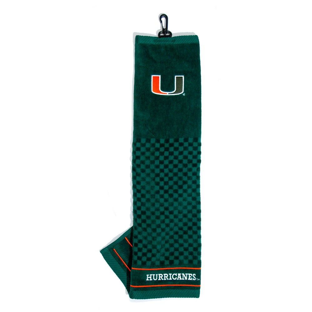 Team Golf Miami Hurricanes Embroidered Towel