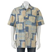 Batik Bay Floral Reverse Print Casual Button-Down Shirt - Big and Tall
