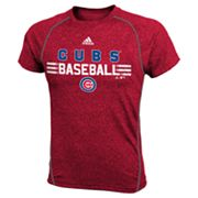 adidas Chicago Cubs ClimaLite Tee - Boys 4-7