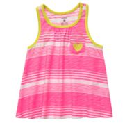 Carter's Striped Neon Tank - Toddler
