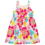 Carter's Floral Neon Knit Dress - Toddler