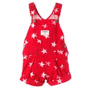 OshKosh B'gosh Star Pleated Shortalls - Baby