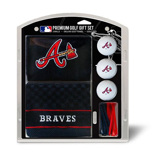 Team Golf Atlanta Braves Embroidered Towel Gift Set