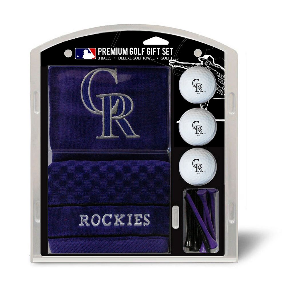 Team Golf Colorado Rockies Embroidered Towel Gift Set