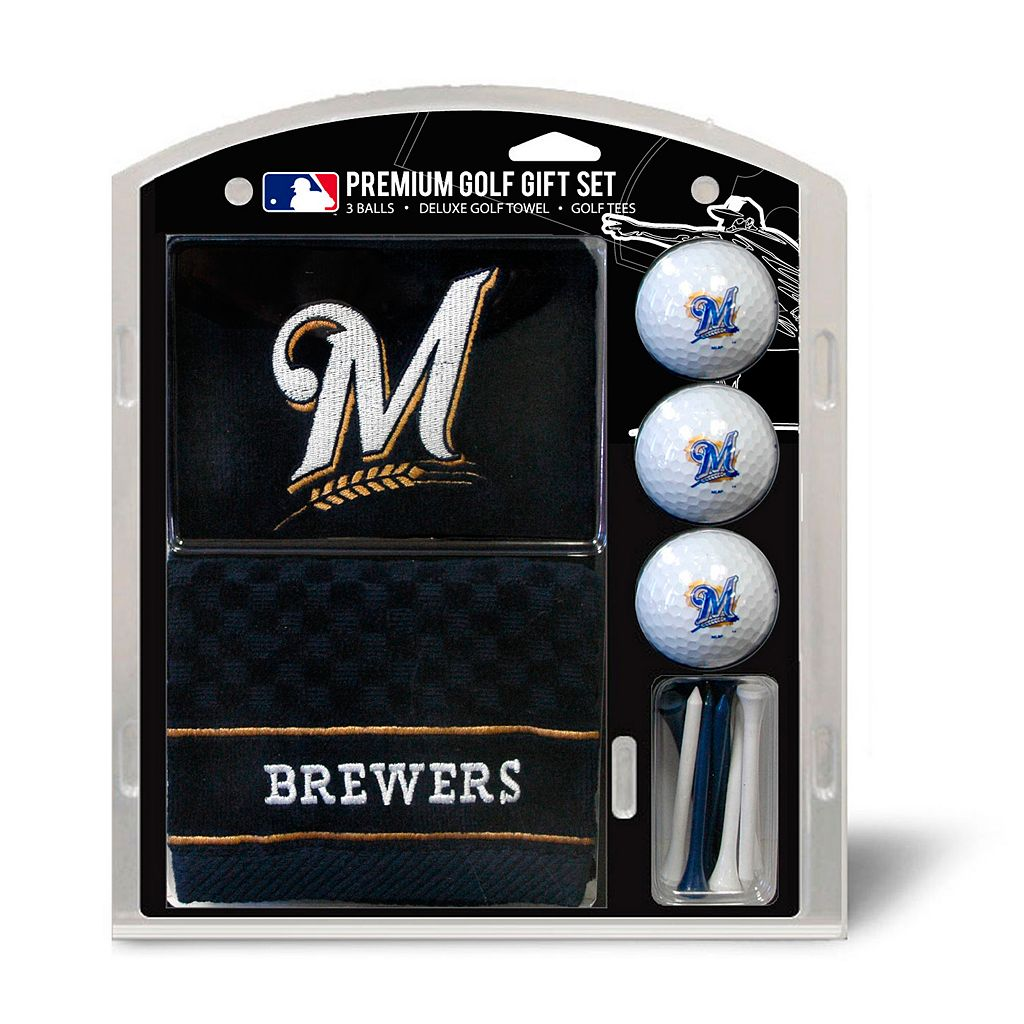 Team Golf Milwaukee Brewers Embroidered Towel Gift Set