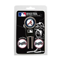Team Golf Atlanta Braves 4 pc Divot Tool & Ball Marker Set