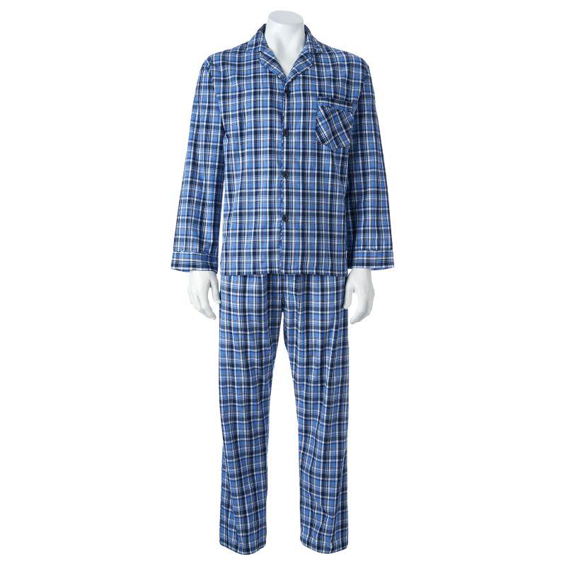 Big & Tall Hanes Classics Pajama Set, Men's, Size: XXXLarge, Blue