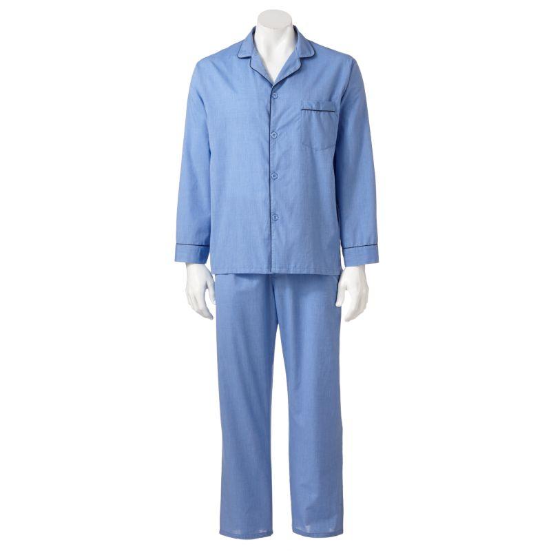 Big & Tall Hanes Classics Pajama Set, Men's, Size: 2X Large, Blue