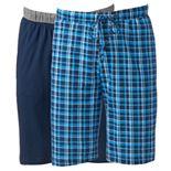 Big & Tall Hanes 2-pack Striped and Solid Knit Sleep Sleep Shorts